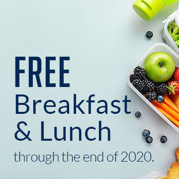 All Students Receive Free Breakfast & Lunch
